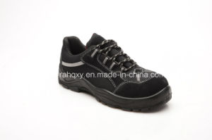 Black Suede New Sole Model Safety Footwear (SP1002) pictures & photos