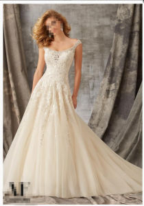 2016 A-Line off Shoulder Bridal Wedding Gowns Wd1351 pictures & photos