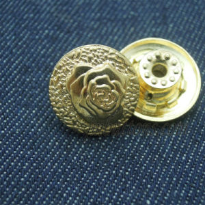 Fancy Rose Metal Button for Women Jeans pictures & photos