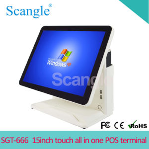 "15"" Full Flat Dual Touch Screen All in One POS Terminal pictures & photos"