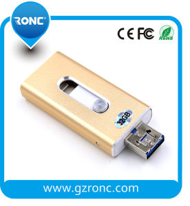 3 in 1 OTG USB Flash Drive for iPhone&Android Phone pictures & photos