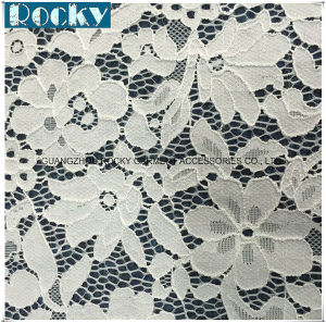 2017 High Quality White Jacquard Nylon Fabric Lace pictures & photos