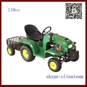 Hot Sale China Cheapest 4 Wheel 110cc Mini Walking Tractor with Trailer pictures & photos
