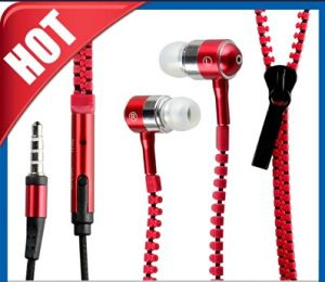 Zipper in-Ear Headphone Headset Earbuds Earphone for MP3 pictures & photos