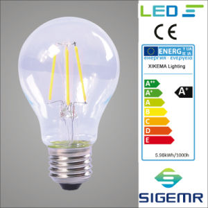 Xikema A60 A19 Filament LED 4W 6W pictures & photos