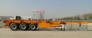Hubei Dongrun 3 Axle 40FT Container Skeleton Trailer