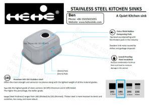 Stainless Steel Kitchen Sink, Bar Sink, Steel Sink, Stainless Steel Under Mount Bar Sink pictures & photos