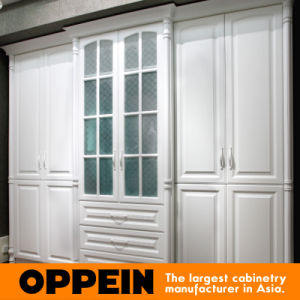 Oppein Modern White Built in Swing Doors Lacquer Wardrobe (YG61530) pictures & photos