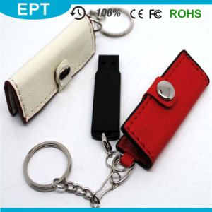 Leather Wallet USB Flash Drive with Key Ring (TL040) pictures & photos