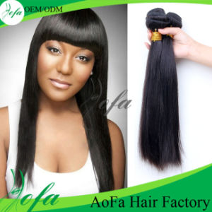 Convenient Use Natural Black Straight Malaysian Hair Extension Human Hair Weave Brands pictures & photos