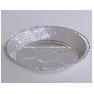 Round Aluminium Food Container 9 Inch with Lid pictures & photos