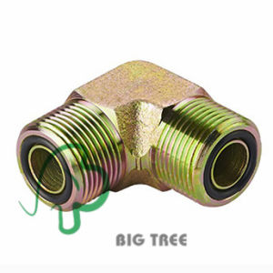 90 Degree Elbow Metric Male Hydraulic Adapter and Fittings with O-Ring pictures & photos