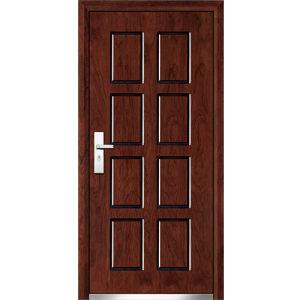 2016 New Style 8 Panel Steel Wood Door