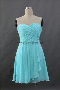 Stock New Knee Length Bridesmaid Wedding Evening Dress pictures & photos