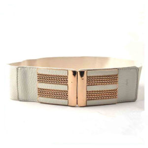 New Women Dress Wide PU Elastic Stretch Fashion Belt pictures & photos