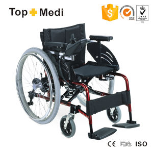Topmedi Luxury Aluminum Foldable Power Electric Wheelchair with Pg Controller pictures & photos
