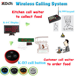 Koqi Brand CE Approved 433.92MHz Guest Waiting System for Fast Food Restaurant pictures & photos
