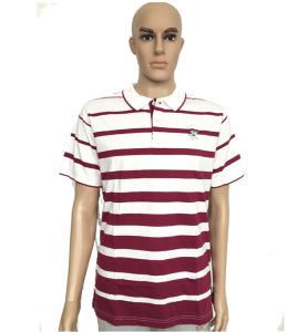 Custom Striped Sublimation Color Combination Collar Design Polo Shirts for Promotional pictures & photos