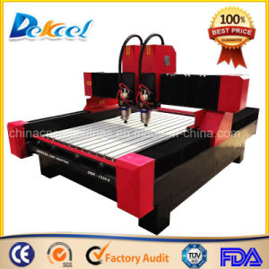 Marble Engraving Router Multi Head Stone CNC Cutting Machine Dekcel -1325-S pictures & photos