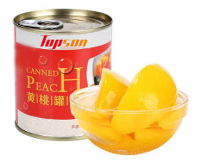 425g Canned Yellow Peach in Tin pictures & photos