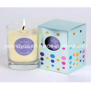 Scented Soy Glass Candle in Colorful Box pictures & photos