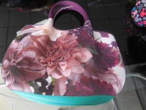 Soft Generous Lightweight Tote Bag Neoprene Handbag pictures & photos