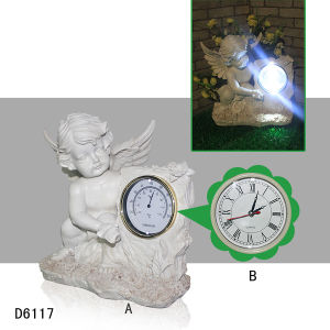 Resin Craft Angel Figurines LED Light for Garden Decoration pictures & photos