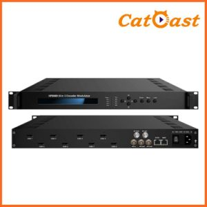 Asi IP and RF Output 8 CH HDMI MPEG-4/Avc H. 264 HD 1080P Encoder Modulator