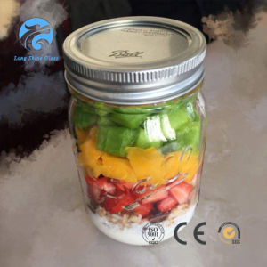 480ml Glass Mason Jar for Storage with Metal Lid pictures & photos