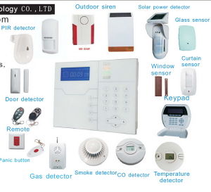 2016 Smart Home Family Wireless TCP IP Alarm with LCD Touchpad