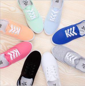 Canvas Shoes Women Casual Shoes Fashion Flat Shoe (AKCS17) pictures & photos