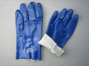 Blue Triple Dipped PVC Smooth Finish PVC Glove-5131 pictures & photos