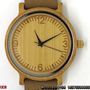 Top Quality Carbonized Bamboo Watch Quartz Watch Hl18 pictures & photos