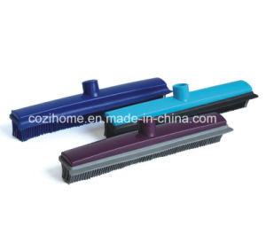 Telescopic Handle Rubber Broom (1402) pictures & photos