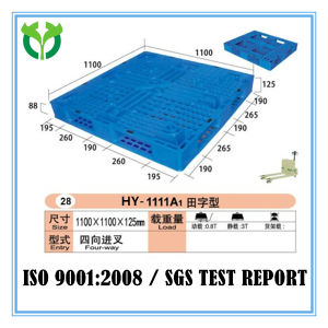 1100*1100 6 Runners Factory Heavy Duty Durable Uline Plastic Pallet