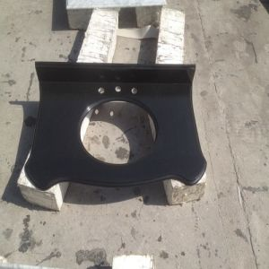 China Polished Kitchen/Furniture Absolute Black Granite/Quartz Countertop/Vanitytop pictures & photos