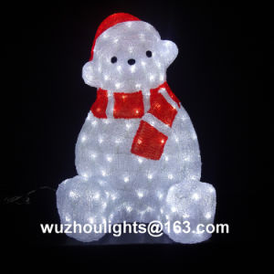H 37cm /130PCS LED Acrylic Bear Christmas Light