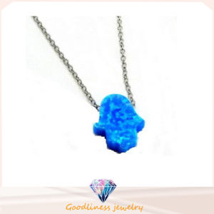 High Quality 925 Sterling Silver Opal Necklace Hand Shape Necklace Jewelry (N6510) pictures & photos