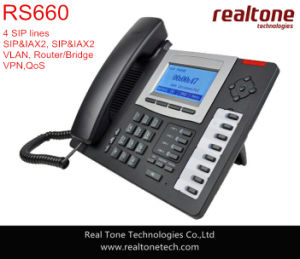 VoIP Phone/IP Phone with Iax2, PoE, 3 Way Conference, Supports VPN (WSS530)