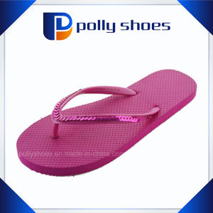 Wholesale PVC Strap EVA Women Red Flip Flop pictures & photos