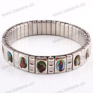 Nearest Hot Sale Fashion Watch Chain, Catholic Rosary Saint Meatl Elastic Bracelet