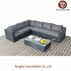Black Long Corner Sofa for Outdoor (1302) pictures & photos