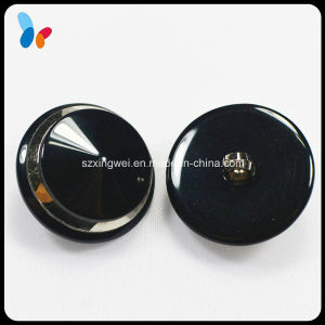 Custom Fashion Black Polyester Resin Coat Button with Shank pictures & photos