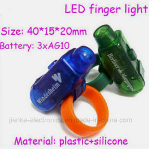 Custom Finger LED Light Torch with Logo Printed (4012) pictures & photos