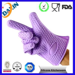 Grill Mitt Silicone BBQ Gloves and Withstand Silicone Grill Gloves pictures & photos