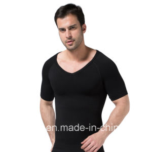 Comfortable Mens Body Shaper Short Sleeve Undershirt pictures & photos