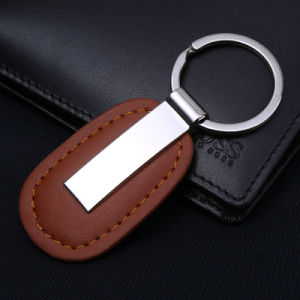 High Quality Custom Leather Key Chain with Custom Logo Both Side pictures & photos