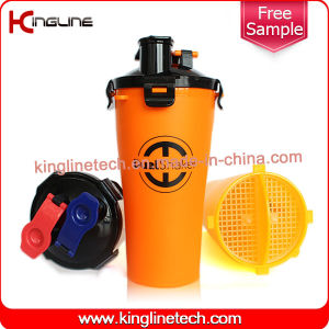 OEM 700ml Plastic Double Separated Shaker Bottle BPA Free Hydra Cup (KL-7015) pictures & photos