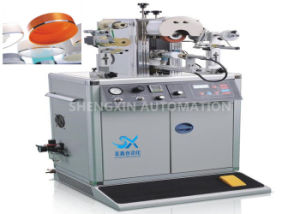 Irregular Caps Semi - Automatic Hot Foil Plastic Stamping Machine 0.6MPa Compressed Air pictures & photos
