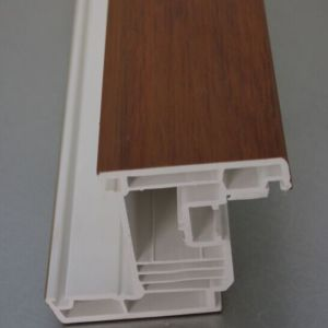 Wooden Color High Quality UPVC Window Profiles pictures & photos
